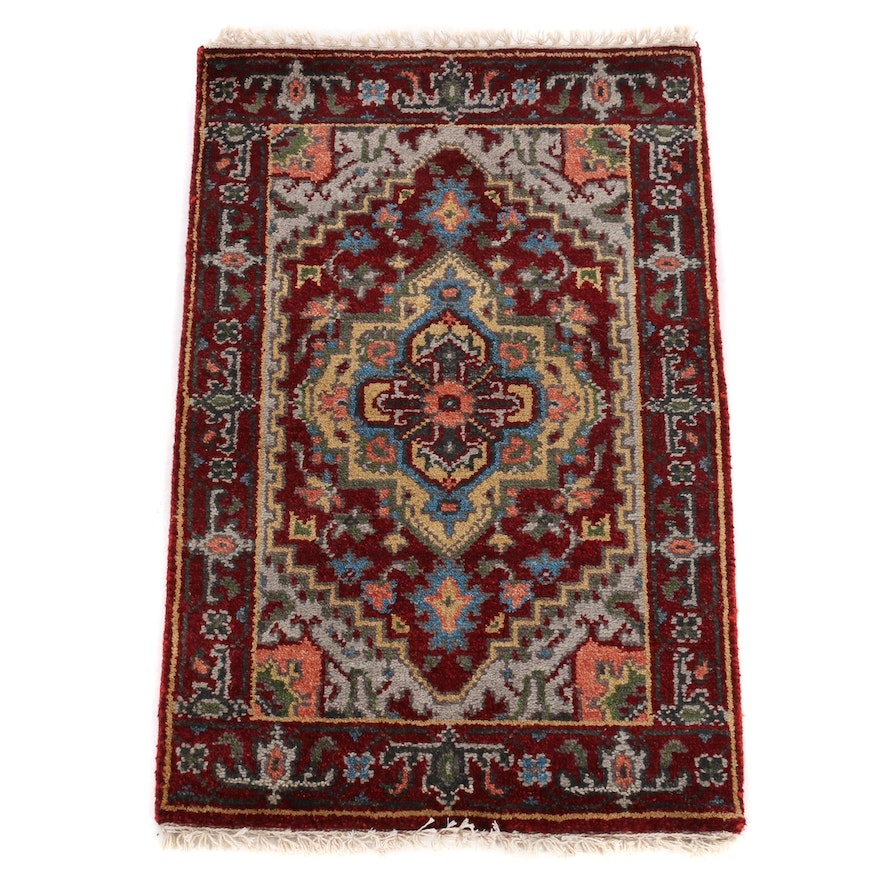 2' x 3'1 Hand-Knotted Indo-Persian Heriz Serapi Accent Rug