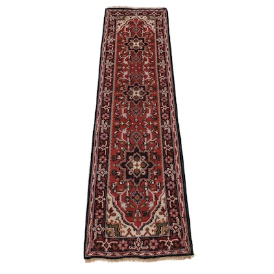 2'7 x 10'3 Hand-Knotted Indo-Persian Heriz Carpet Runner