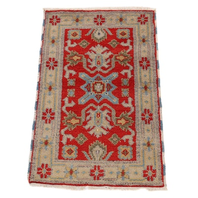 2'1 x 3'2 Hand-Knotted Afghani Tribal Kazak Accent Rug