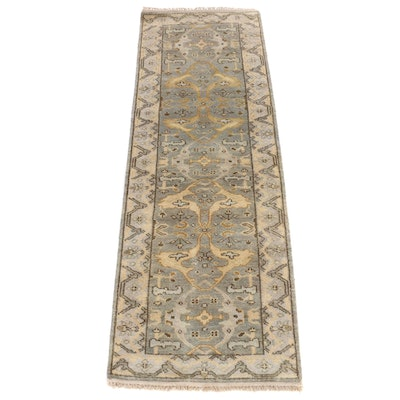 2'8 x 8'3 Hand-Knotted Indo-Turkish Oushak Carpet Runner