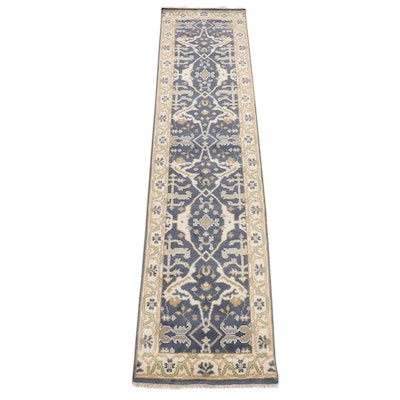 2'4 x 10'4 Hand-Knotted Indo-Turkish Oushak Carpet Runner