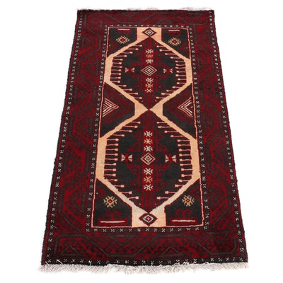 3'1 x 5'7 Hand-Knotted Afghani Turkoman Rug