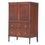 Federal Style Walnut and Figured Walnut Chest of Drawers, Early 20th Century