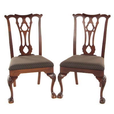 "Pair of Romweber ""Traditions Made Modern"" Chippendale Style Side Chairs"