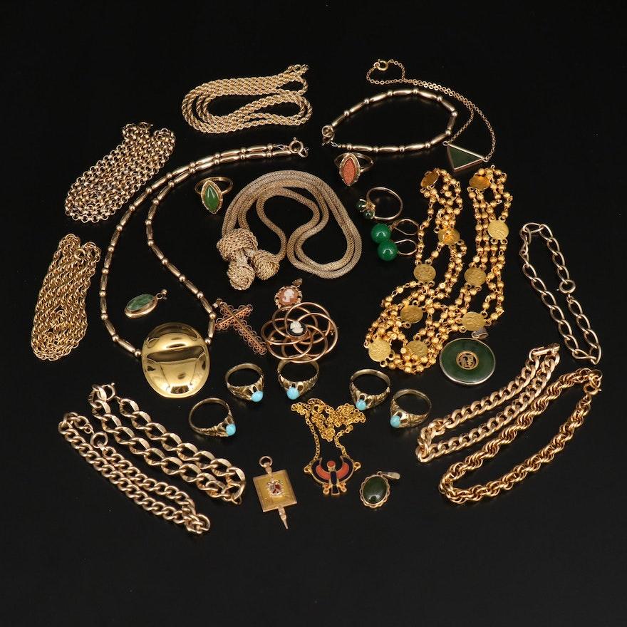 "Vintage Jewelry with 1976 Metropolitan Museum of Art ""Horus"" Falcon Necklace"