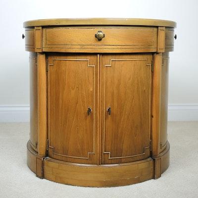 Oak Drum Table, Mid-20th Century