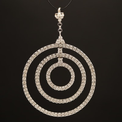 18K Multi-Circle Diamond Pendant