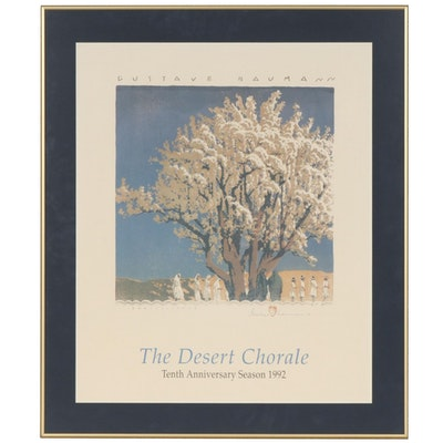 """Gustave Baumann Offset Lithograph for """"The Desert Chorale"""" Poster, 1992"""