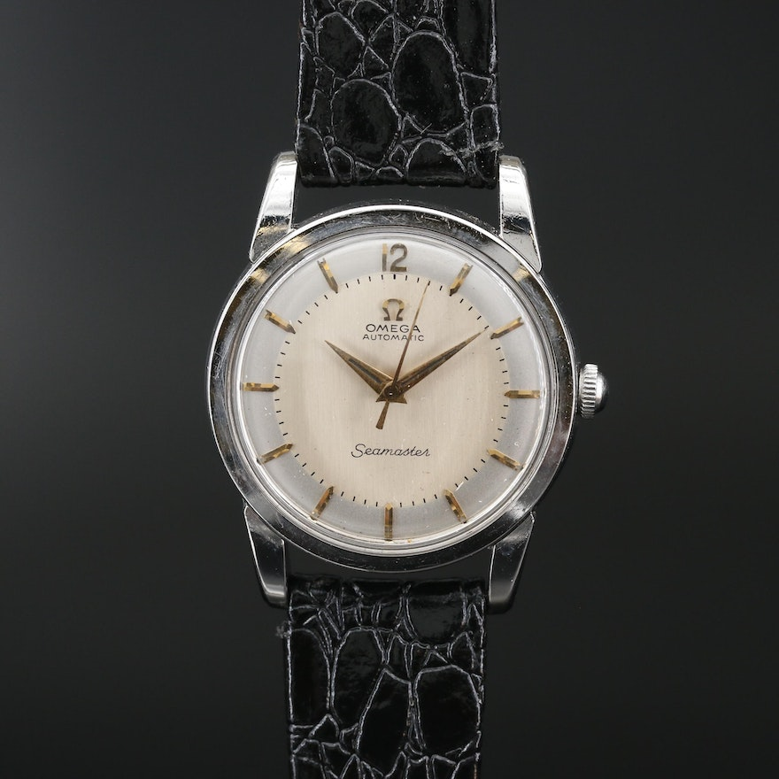 1955 Omega Seamaster Stainless Steel Automatic Wristwatch