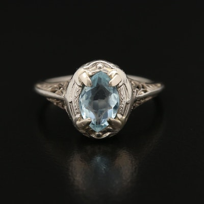 1930s 14K Aquamarine Ring