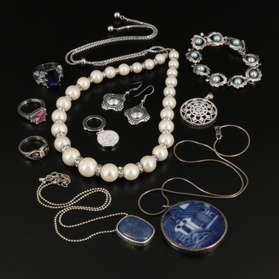 Assorted Jewelry Featuring Sterling Bracelet with 12K Accents