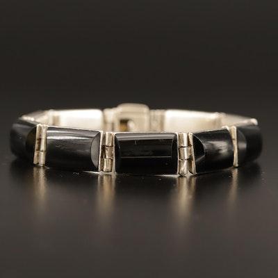 Mexican 950 Silver Black Onyx Bracelet