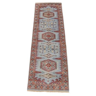 2'7 x 8'1 Hand-Knotted Caucasian Kazak Bakhshayesh Serapi Heriz Runner Rug