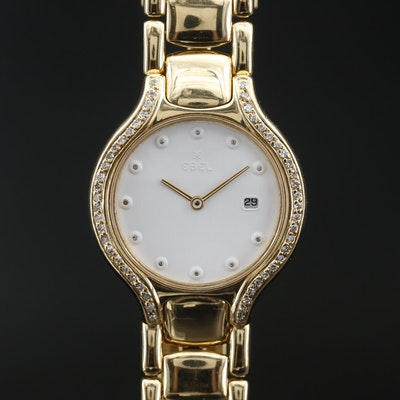 Ebel Beluga 18K Diamond Quartz Wristwatch