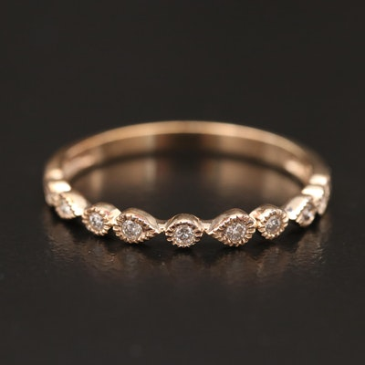 10K Diamond Station Ring