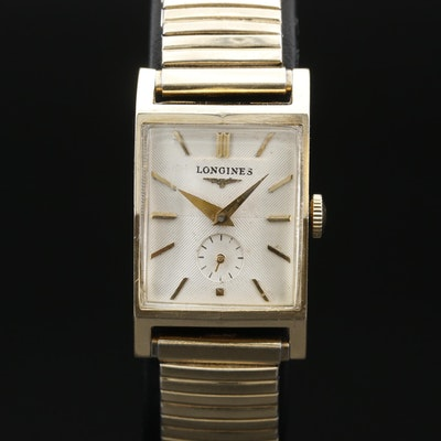 1952 Longines President Roosevelt 14K Gold Stem Wind Wristwatch