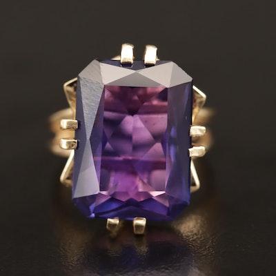 Vintage 14K Corundum Solitaire Ring