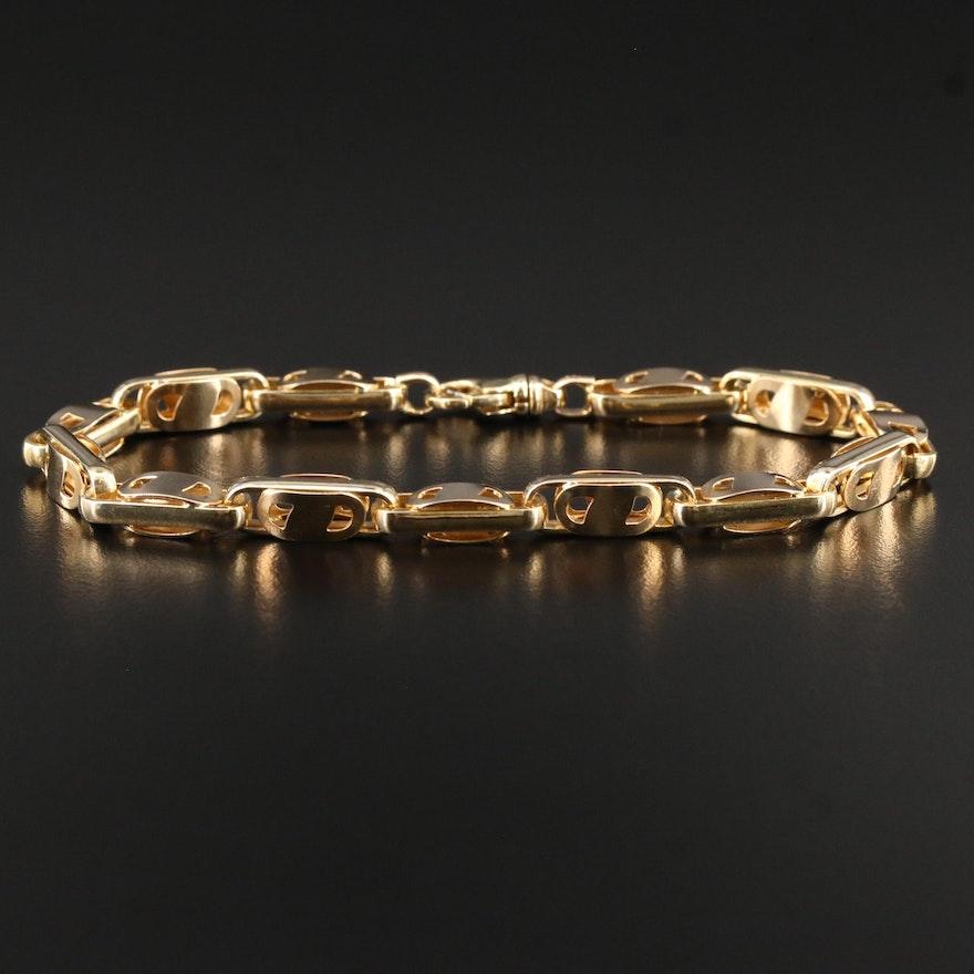 14K Fancy Cable Link Bracelet