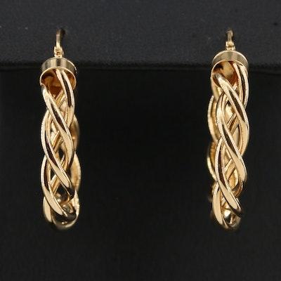 14K Helical Hoop Earrings