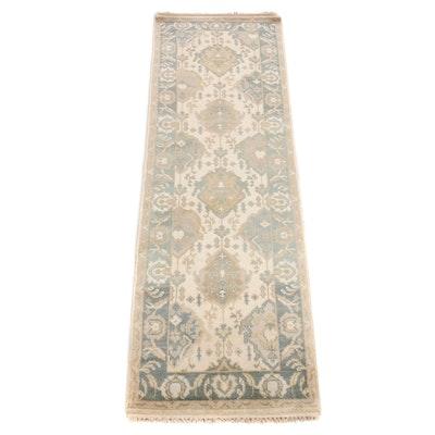 2'6 x 8' Hand-Knotted Turkish Oushak Heriz Serapi Tabriz Runner Rug
