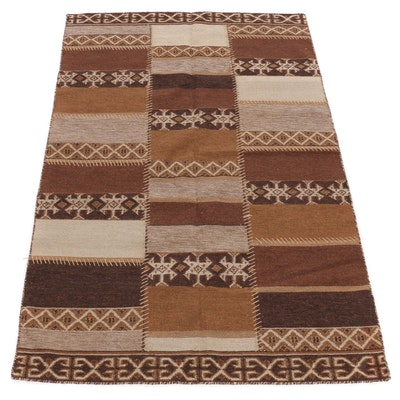 5' x 7'11 Handwoven Turkish Serapi Heriz Kilim Wool Rug