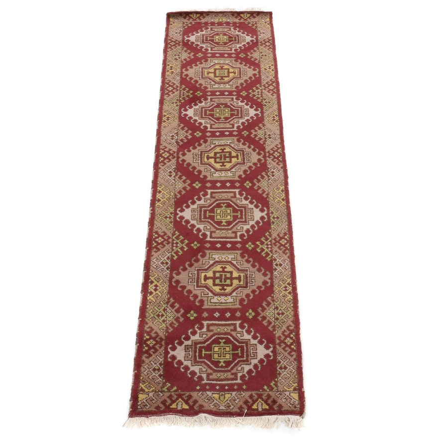 2'8 x 8'11 Hand-Knotted Kazak Traditional Wool Runner Rug