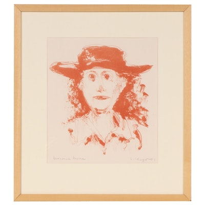"Sidney Chafetz Lithograph ""Marianne Moore"", 1981"