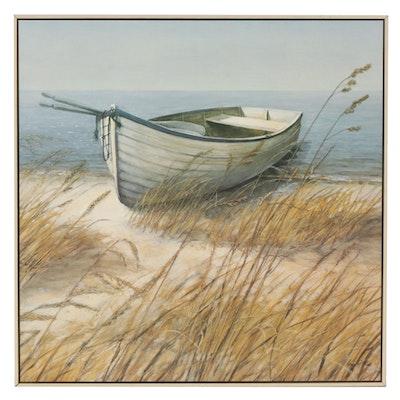 "Arnie Fisk Offset Lithograph ""Shoreline Boat"""