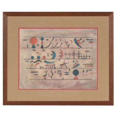 Abstract Forms Offset Lithograph after Wassily Kandinsky