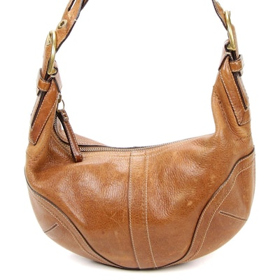 Coach Soho Braided Leather Strap Hobo Shoulder Bag