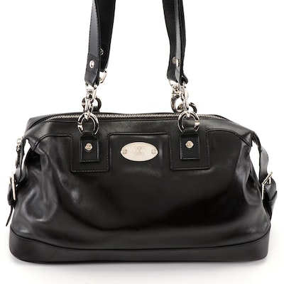 Celine Black Leather Baguette Shoulder Bag