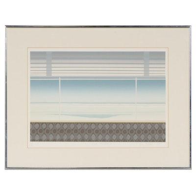 "Ann McCall Serigraph ""Winter Window"", 1979"
