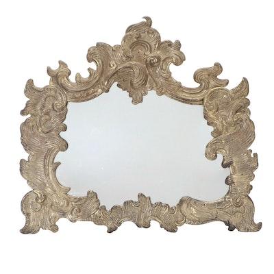 German Rococo Metal Framed Wall Mirror