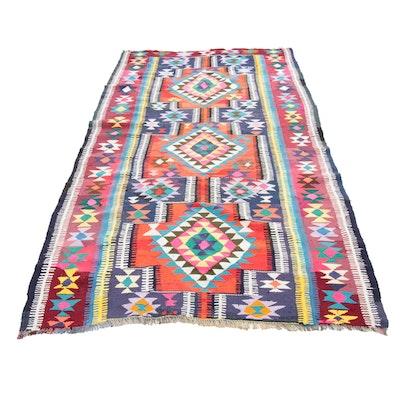 6'2 x 12'4 Handwoven Persian Kilim Wool Rug