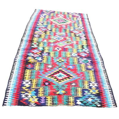 4'2 x 12'4 Handwoven Persian Kilim Wool Rug