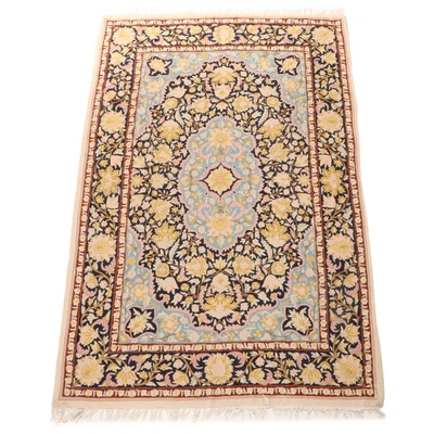 3'8 x 5'8 Crewel Work Wool Rug