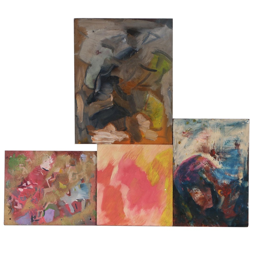 Oscar Murillo Abstract Oil Paintings