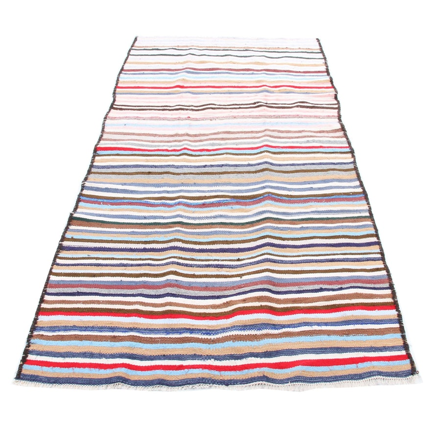 5'10 x 10'8 Handwoven Persian Wool Kilim Rug