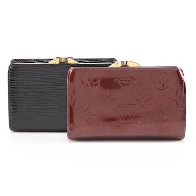 Louis Vuitton Porte-Monnaie Billets Viennois Wallets in Vernis and Epi Leather