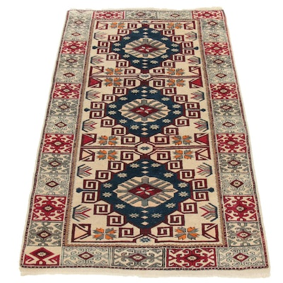 3'3 x 5'6 Hand-Knotted Turkish Village Rug