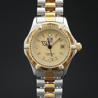TAG Heuer 2000 Professional Stainless Steel Quartz Wristwatch