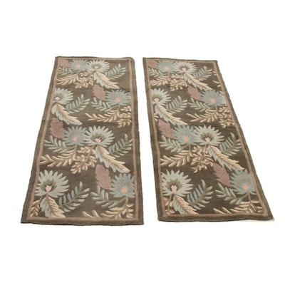 Pair of 2' x 4'11 Tufted Floral Rug Runners