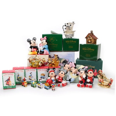 Walt Disney Salt and Pepper Shakers, Ornaments and Figurines