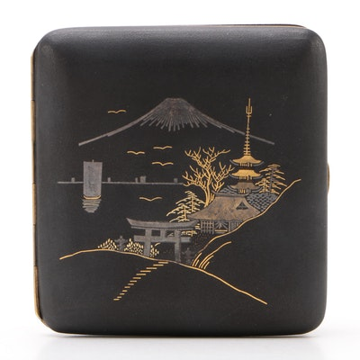 Japanese Mixed Metal Cigarette Case, Mid 20th Century