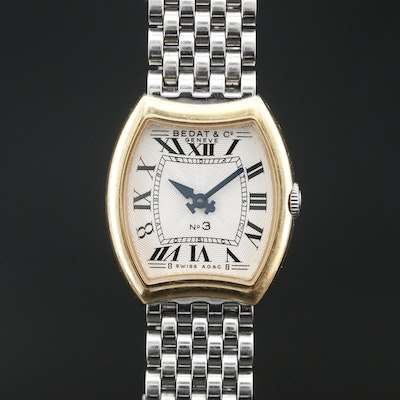 """Bedat & Co. """"No.3"""" 18K and Stainless Steel Quartz Wristwatch"""