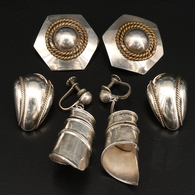 Mexican Sterling Silver Earrings Selection