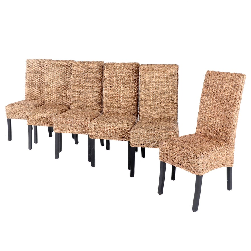 Indonesian Seagrass Parsons Chairs for Arhaus