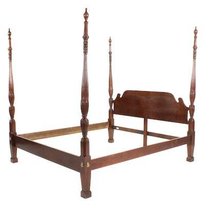 Thomasville Federal Style Cherry Four Poster King Sized Bed Frame
