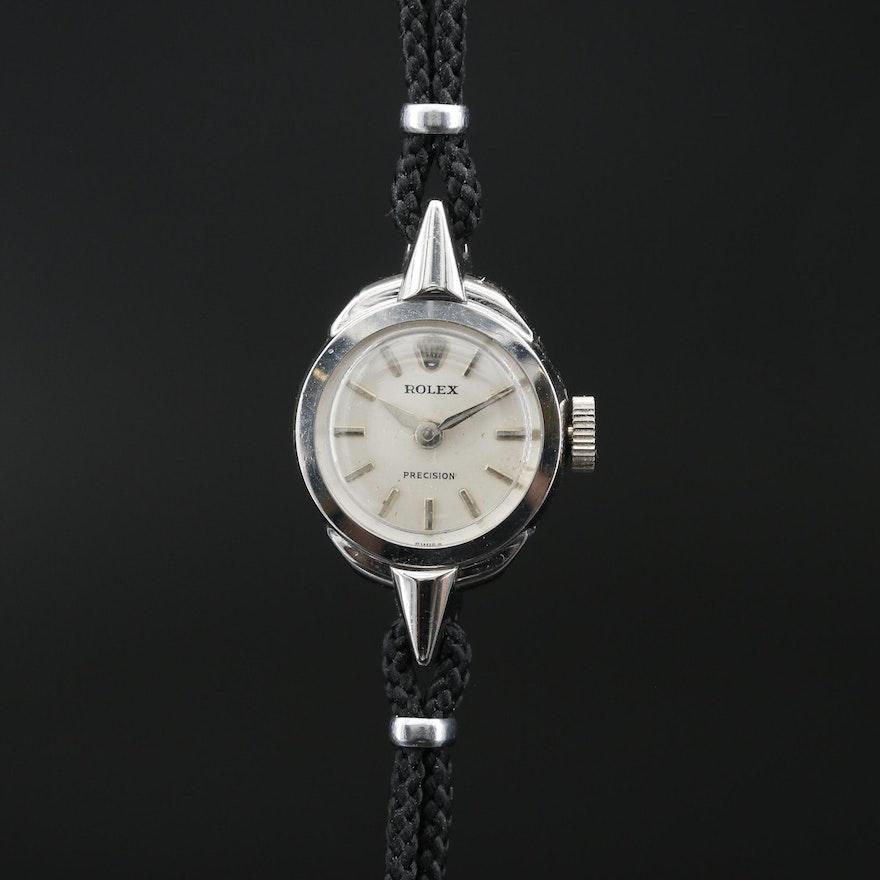 Rolex Stainless Steel Stem Wind Wristwatch, Vintage