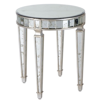 Curry Company Contemporary Mirrored Panel Center Table